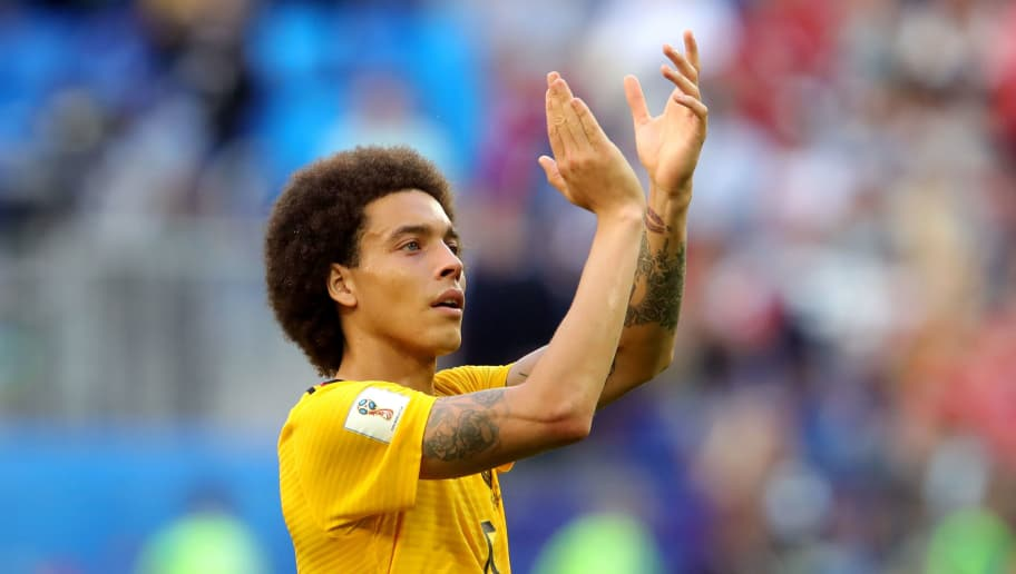 SAINT PETERSBURG, RUSSIA - JULY 14:  Axel Witsel of Belgium applauds fans after the 2018 FIFA World Cup Russia 3rd Place Playoff match between Belgium and England at Saint Petersburg Stadium on July 14, 2018 in Saint Petersburg, Russia.  (Photo by Alexander Hassenstein/Getty Images)
