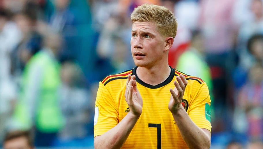 SAINT PETERSBURG, RUSSIA - JULY 14: Kevin de Bruyne of Belgium gestures during the 2018 FIFA World Cup Russia 3rd Place Playoff match between Belgium and England at Saint Petersburg Stadium on July 14, 2018 in Saint Petersburg, Russia. (Photo by TF-Images/Getty Images)