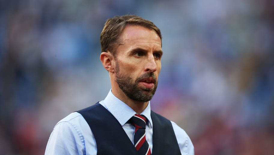 SAINT PETERSBURG, RUSSIA - JULY 14: England manager Gareth Southgate is seen during the 2018 FIFA World Cup Russia 3rd Place Playoff match between Belgium and England at Saint Petersburg Stadium on July 14, 2018 in Saint Petersburg, Russia. (Photo by Ian MacNicol/Getty Images)