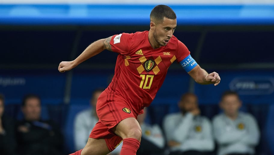 SAINT PETERSBURG, RUSSIA - JULY 10:  Eden Hazard of Belgium controls the ball during the 2018 FIFA World Cup Russia Semi Final match between Belgium and France at Saint Petersburg Stadium on July 10, 2018 in Saint Petersburg, Russia.  (Photo by Quality Sport Images/Getty Images)