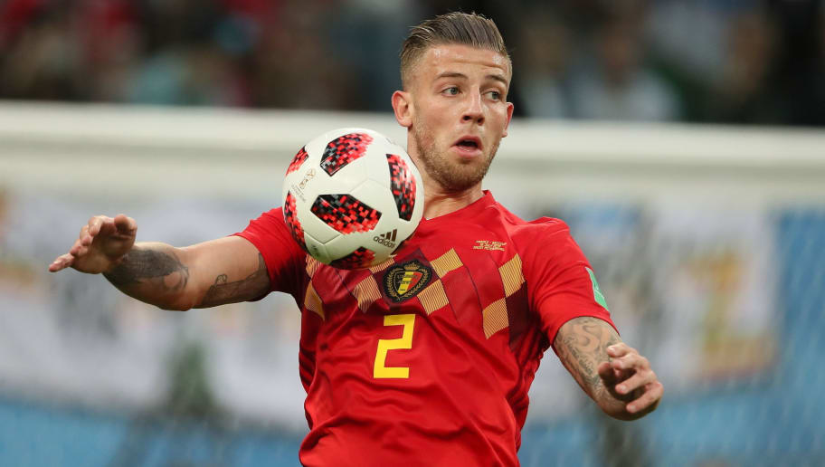 SAINT PETERSBURG, RUSSIA - JULY 10: Toby Alderweireld of Belgium during the 2018 FIFA World Cup Russia Semi Final match between Belgium and France at Saint Petersburg Stadium on July 10, 2018 in Saint Petersburg, Russia. (Photo by Matthew Ashton - AMA/Getty Images)