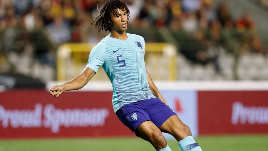 , BELGIUM - OCTOBER 16: Nathan Ake of Holland  during the  International Friendly match between Belgium  v Holland  on October 16, 2018 (Photo by Soccrates/Getty Images)