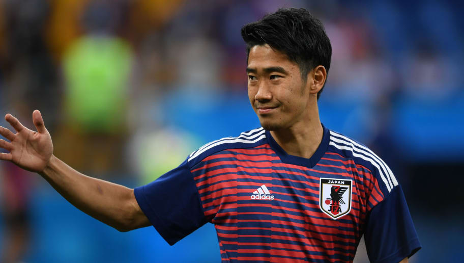 ROSTOV ON DON,RUSSIA - JULY 2: Shinji Kagawa of Japan warms up prior to the 2018 FIFA World Cup Russia Round of 16 match between Belgium and Japan at Rostov Arena on July 2, 2018 in Rostov-on-Don, Russia. (Photo by Etsuo Hara/Getty Images)