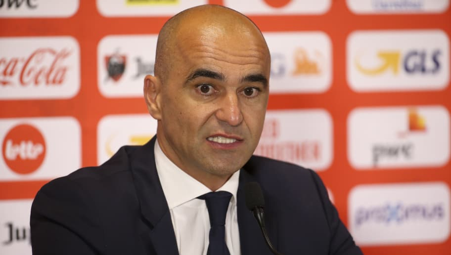 BRUSSELS, BELGIUM - OCTOBER 12: Coach of Belgium Roberto Martinez answers to the media following the UEFA Nations League A group two match between Belgium and Switzerland at King Baudouin Stadium, Stade Roi Baudouin on October 12, 2018 in Brussels, Belgium. (Photo by Jean Catuffe/Getty Images)