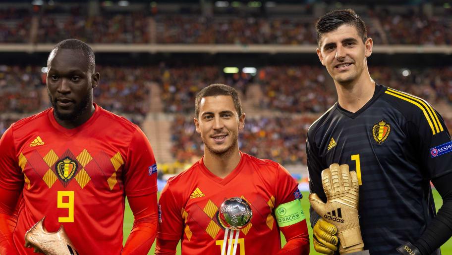 Romelu Lukaku,Eden Hazard,Thibaut Courtois
