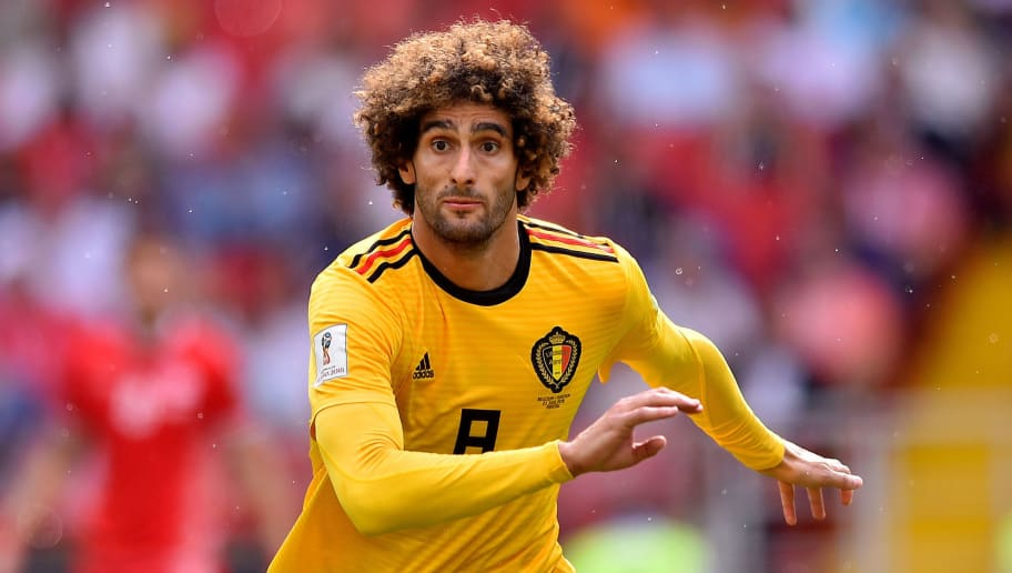 MOSCOW, RUSSIA - JUNE 23: Marouane Fellaini of Belgium look on during the 2018 FIFA World Cup Russia group G match between Belgium and Tunisia at Spartak Stadium on June 23, 2018 in Moscow, Russia. (Photo by Lukasz Laskowski/PressFocus/MB Media/Getty Images)