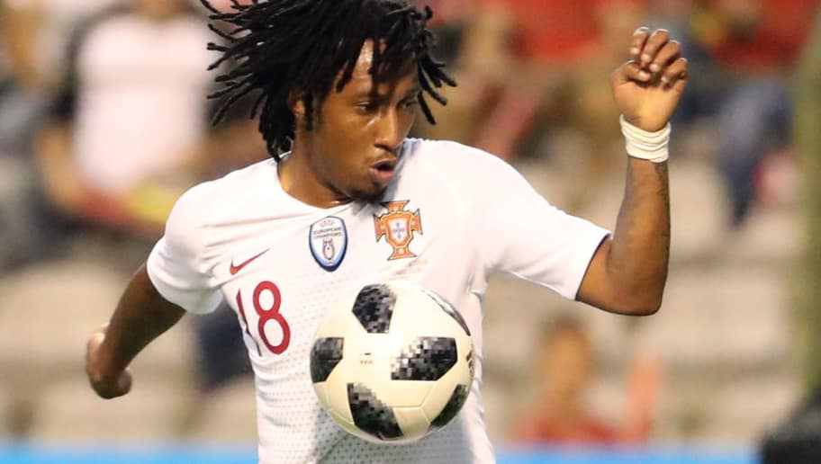BRUSSELS,BELGIUM -  JUNE 2: Gelson MARTINS pictured in action during a friendly game between Belgium and Portugal, as part of preparations for the 2018 FIFA World Cup in Russia, on June 2, 2018 in Brussels, Belgium. Photo by Vincent Van Doornick - Isosport