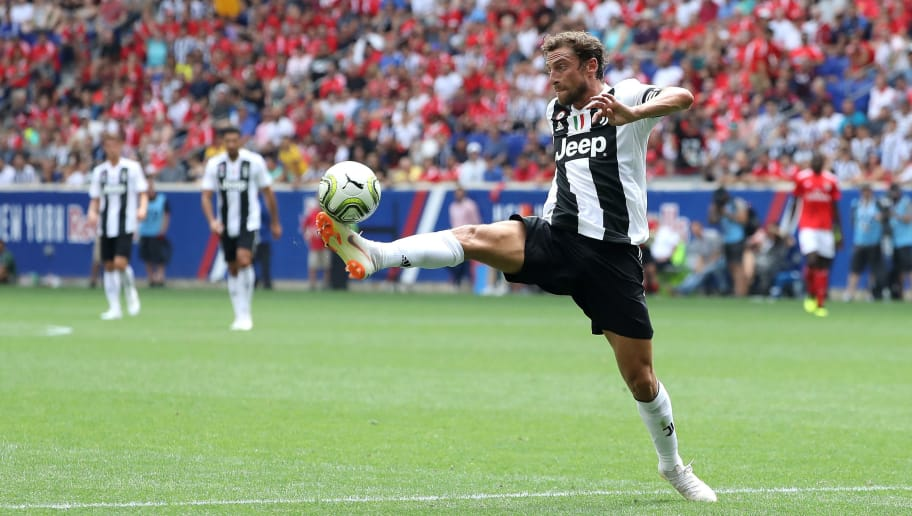 HARRISON, NJ - JULY 28: Claudio Marchisio #8 of Juventus handles the ball during second half at the International Champions Cup at Red Bull Arena on July 28, 2018 in Harrison, New Jersey.  (Photo by Elsa/International Champions Cup/Getty Images)