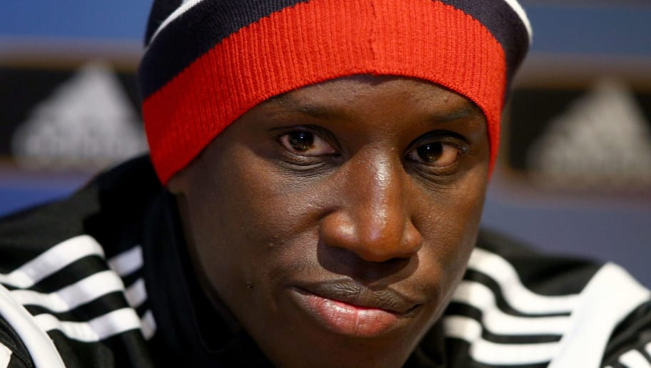 LONDON, ENGLAND - OCTOBER 01:  Demba Ba of Besiktas speaks to the press during the Europa League Besiktas Press Conference at White Hart Lane on October 1, 2014 in London, United Kingdom.  (Photo by Ian Walton/Getty Images)