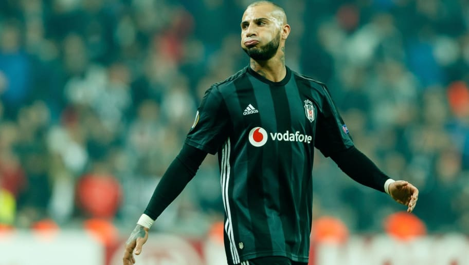 ISTANBUL, TURKEY - OCTOBER 25: Ricardo Quaresma of Besiktas looks dejected during the UEFA Europa League Group I match between Besiktas and KRC Genk at Vodafone Park on October 25, 2018 in Istanbul, Turkey. (Photo by TF-Images/Getty Images)