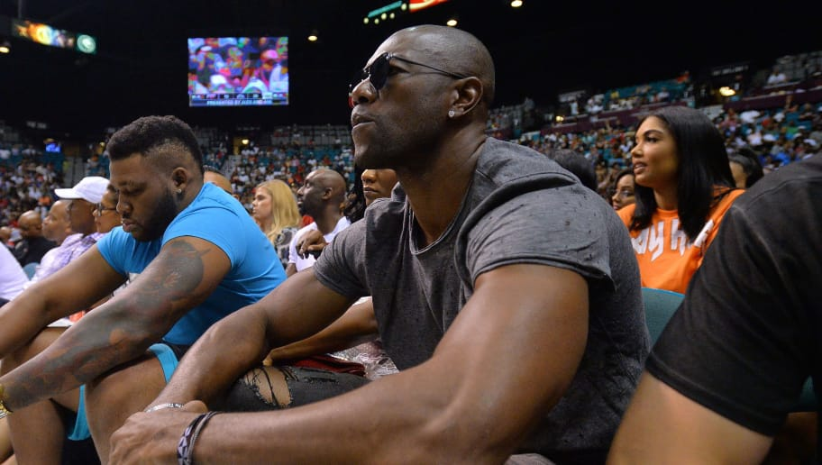 LAS VEGAS, NV - AUGUST 26:  Former NFL player Terrell Owens attends the BIG3 three on three basketball league championship game on August 26, 2017 in Las Vegas, Nevada.  (Photo by Sam Wasson/BIG3/Getty Images)