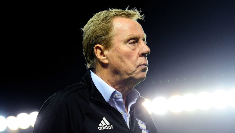 BIRMINGHAM, ENGLAND - AUGUST 22:  Harry Redknapp, Manager of Birmingham City looks on after the Carabao Cup Second Round match between Birmingham City and AFC Bournemouth at St Andrews (stadium) on August 22, 2017 in Birmingham, England.  (Photo by Harry Trump/Getty Images)