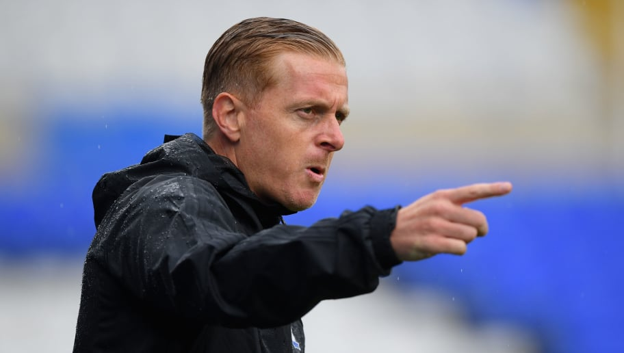 BIRMINGHAM, ENGLAND - JULY 28:  Birmingham manager Garry Monk reacts during the friendly match between Birmingham City and Brighton and Hove Albion at St Andrew's Trillion Trophy Stadium on July 28, 2018 in Birmingham, England.  (Photo by Stu Forster/Getty Images)