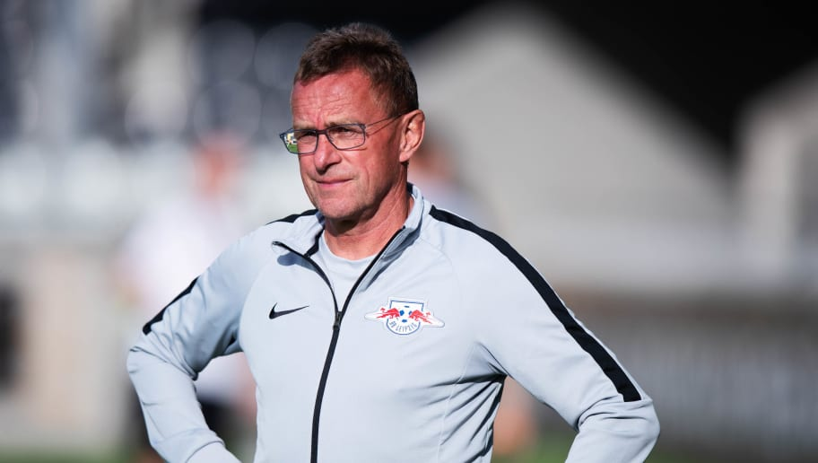GOTHENBURG, SWEDEN - AUGUST 02: Ralf Rangnick, head coach of RB Leipzig during the Europa League Qualifying match between BK Hacken and RB Leipzig at Bravida Arena on August 2, 2018 in Gothenburg, Sweden. (Photo by Nils Petter Nilsson/Getty Images)