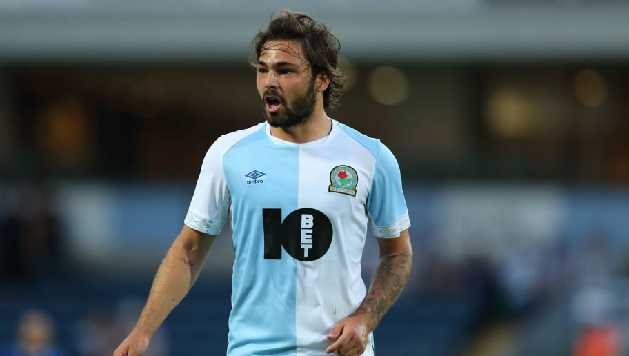 BLACKBURN, ENGLAND - JULY 26: Bradley Dack of Blackburn Rovers during the pre-season friendly between Blackburn Rovers and Everton at Ewood Park on July 26, 2018 in Blackburn, England. (Photo by James Williamson - AMA/Getty Images)