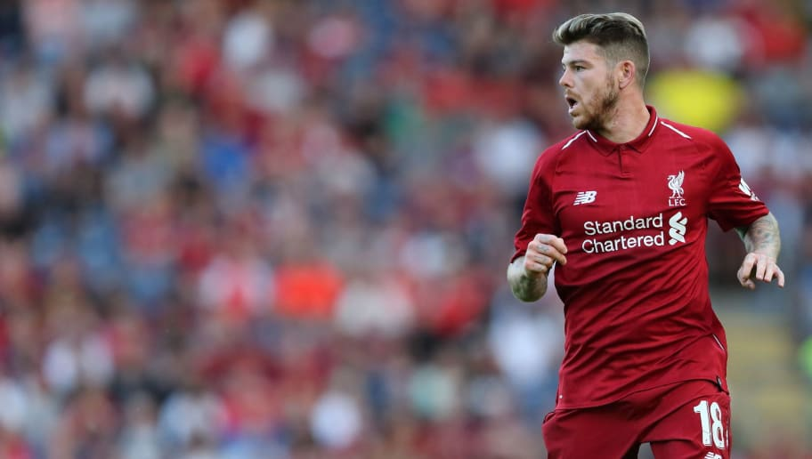 BLACKBURN, ENGLAND - JULY 19: Alberto Moreno of Liverpool at Ewood Park on July 19, 2018 in Blackburn, England. (Photo by James Williamson - AMA/Getty Images)
