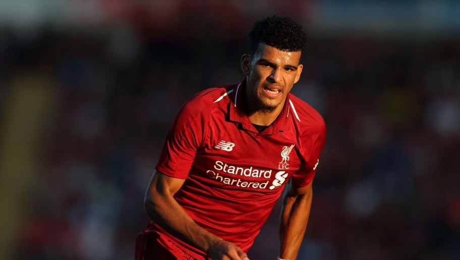 BLACKBURN, ENGLAND - JULY 19: Dominic Solanke of Liverpool at Ewood Park on July 19, 2018 in Blackburn, England. (Photo by James Williamson - AMA/Getty Images)