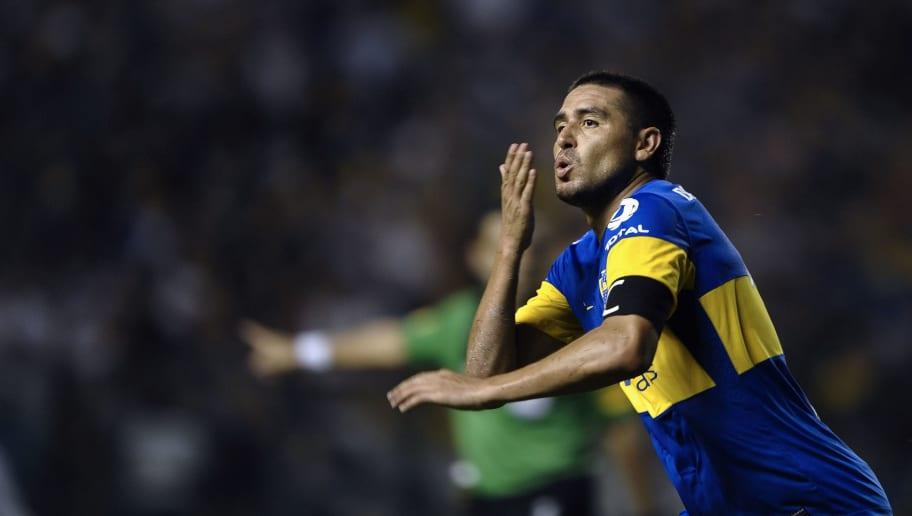 Boca Juniors' midfielder Juan Roman Riqu