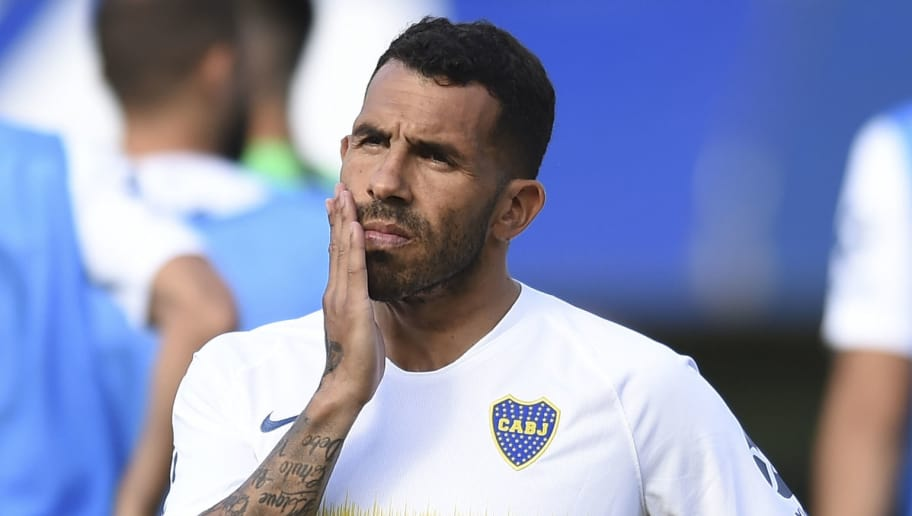 BUENOS AIRES, ARGENTINA - NOVEMBER 17: Carlos Tevez of Boca Juniors gestures before a match between Boca Juniors and Patronato as part of Superliga 2018/19 at Estadio Alberto J. Armando on November 17, 2018 in Buenos Aires, Argentina. (Photo by Marcelo Endelli/Getty Images)