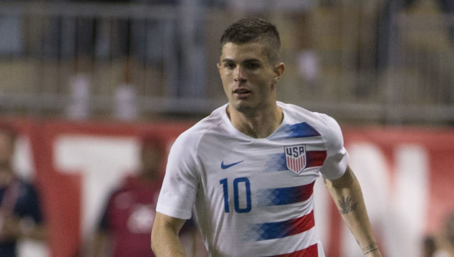 CHESTER, PA - MAY 28: Christian Pulisic #10 of the United States controls the ball during the friendly soccer match against Bolivia at Talen Energy Stadium on May 28, 2018 in Chester, Pennsylvania. (Photo by Mitchell Leff/Getty Images)