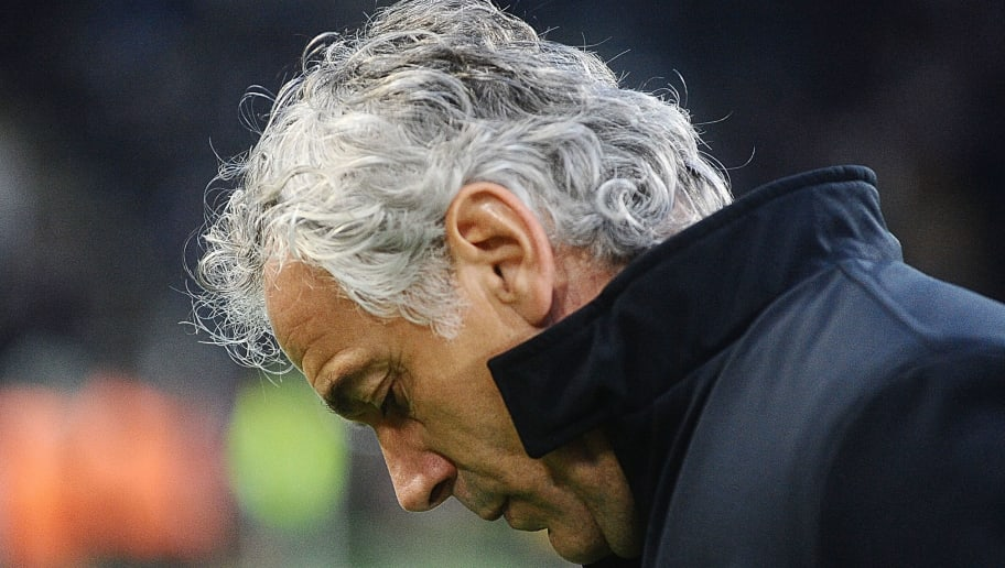 BOLOGNA, ITALY - FEBRUARY 24: Roberto Donadoni head coach of Bologna FC looks on prior the beginning of  the serie A match between Bologna FC v Genoa CFC at Stadio Renato Dall'Ara on February 24, 2018 in Bologna, Italy.  (Photo by Mario Carlini / Iguana Press/Getty Images)