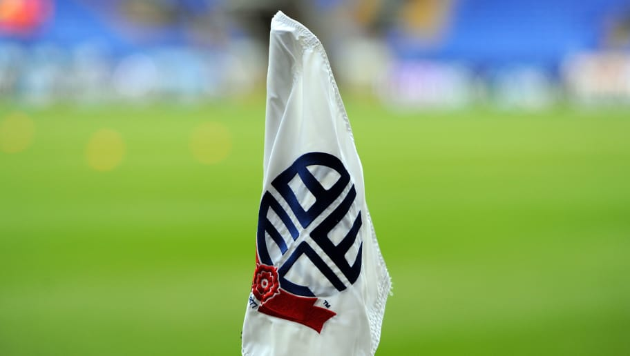 BOLTON, ENGLAND - JANUARY 4:  A general view of a corner flag at the Reebok Stadium during the FA CupThird Round match between Bolton Wanderers and Blackpool at the Reebok Stadium on January 4, 2014 in Bolton, England. (Photo by Clint Hughes/Getty Images)