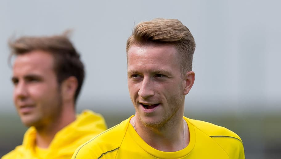 BAD RAGAZ, SWITZERLAND - AUGUST 01: Marco Reus of Dortmund looks on during the Borussia Dortmund training camp on August 1, 2018 in Bad Ragaz, Switzerland. (Photo by TF-Images/Getty Images)
