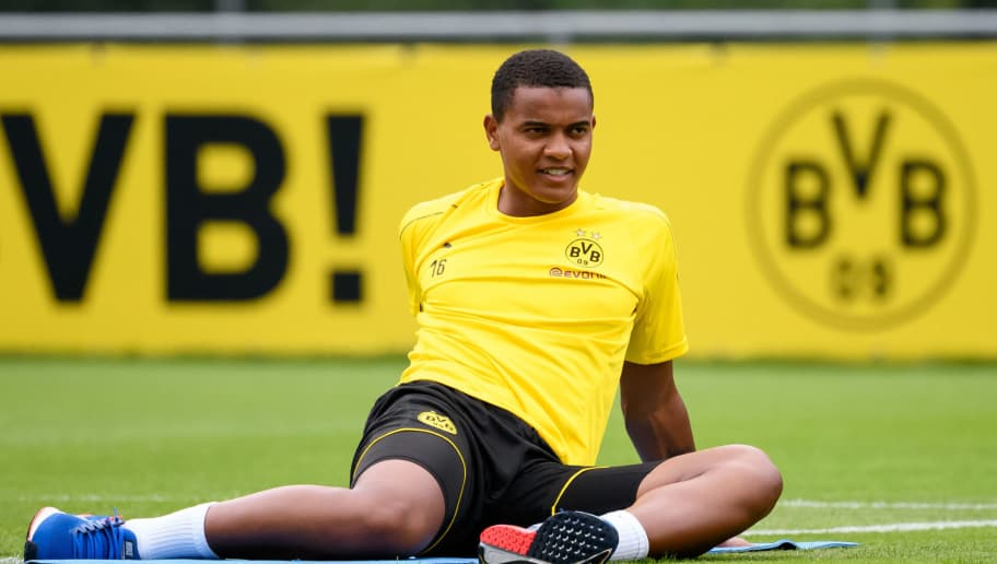 BAD RAGAZ, SWITZERLAND - AUGUST 01: Manuel Akanji of Dortmund looks on during the Borussia Dortmund training camp on August 1, 2018 in Bad Ragaz, Switzerland. (Photo by TF-Images/Getty Images)