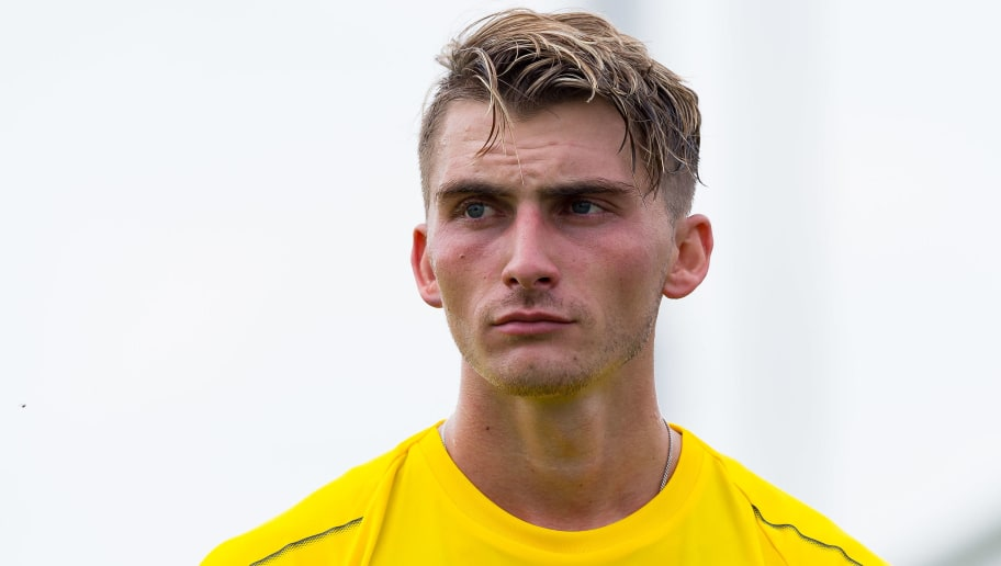 DORTMUND, GERMANY - JULY 12: Maximilian Philipp of Dortmund looks on during a training session at BVB training center on July 12, 2018 in Dortmund, Germany. (Photo by TF-Images/Getty Images)