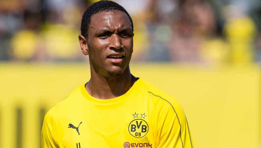 DORTMUND, GERMANY - JULY 30: Abdou Diallo of Borussia Dortmund looks on during the Borussia Dortmund Training Session on July 30, 2018 in Dortmund, Germany. (Photo by TF-Images/Getty Images)