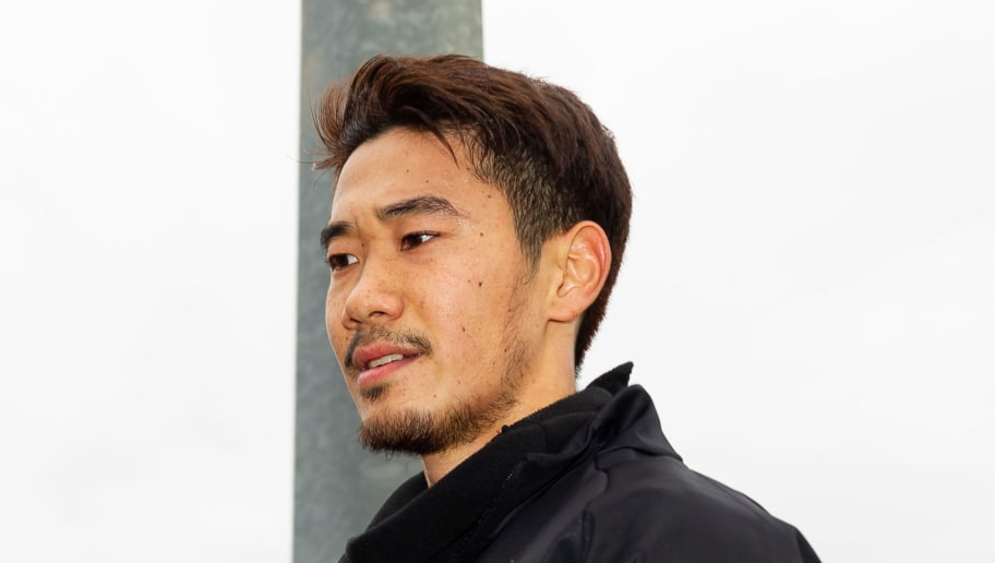 DORTMUND, GERMANY - NOVEMBER 29: Shinji Kagawa of Dortmund looks on during a training session at BVB training center on November 29, 2018 in Dortmund, Germany.(Photo by TF-Images/TF-Images via Getty Images)