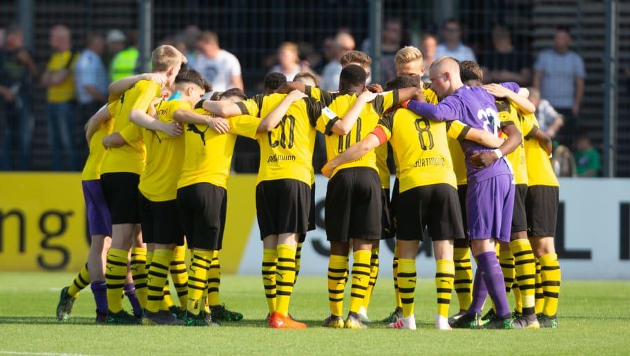 Borussia Dortmund U17 v VfL Wolfsburg U17 - B Juniors German Championship Semi Final Leg One