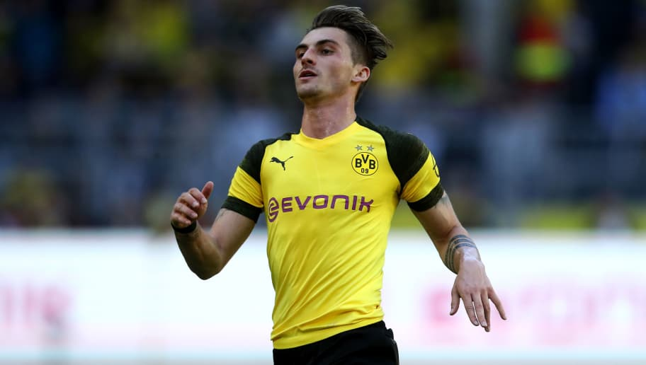 DORTMUND, GERMANY - MAY 05: Maximilian Philipp of Dortmund is seen during the Bundesliga match between Borussia Dortmund and 1. FSV Mainz 05 at Signal Iduna Park on May 5, 2018 in Dortmund, Germany. (Photo by Christof Koepsel/Bongarts/Getty Images)