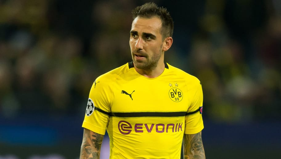 DORTMUND, GERMANY - OCTOBER 03: Paco Alcacer of Borussia Dortmund looks on during the Group A match of the UEFA Champions League between Borussia Dortmund and AS Monaco at Signal Iduna Park on October 3, 2018 in Dortmund, Germany. (Photo by TF-Images/TF-Images via Getty Images)