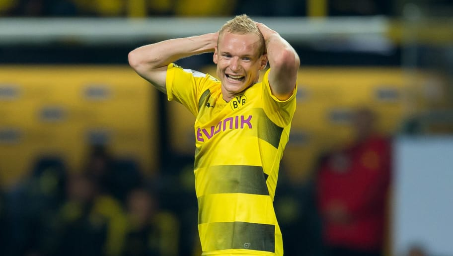DORTMUND, GERMANY - AUGUST 05: Sebastian Rode of Dortmund gestures during the DFL Supercup 2017 match between Borussia Dortmund and Bayern Muenchen at Signal Iduna Park on August 5, 2017 in Dortmund, Germany. (Photo by TF-Images/TF-Images via Getty Images)
