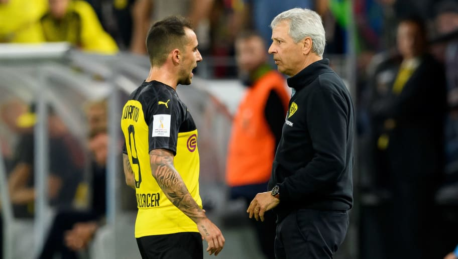 Paco Alcacer,Lucien Favre