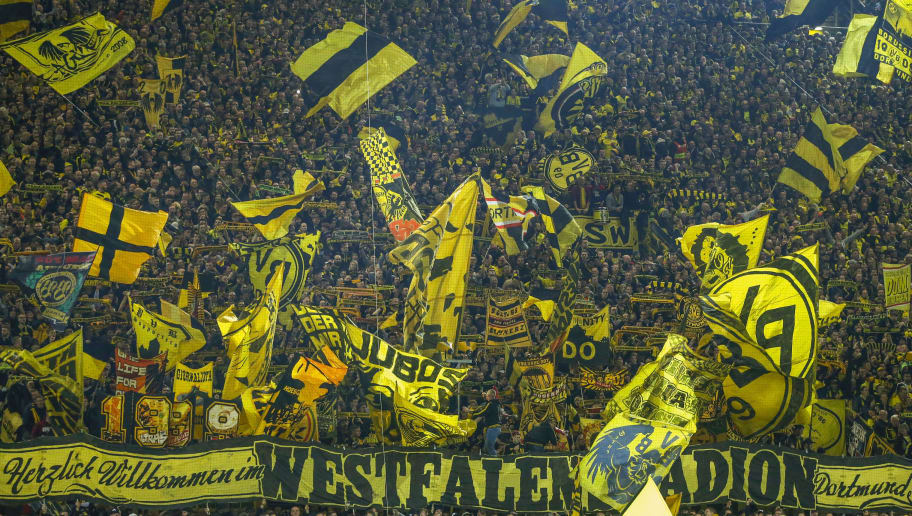 DORTMUND, GERMANY - NOVEMBER 10: supporters Borussia Dortmund during the German Bundesliga  match between Borussia Dortmund v Bayern Munchen at the Signal Iduna Park on November 10, 2018 in Dortmund Germany (Photo by Peter Lous/Soccrates/Getty Images)