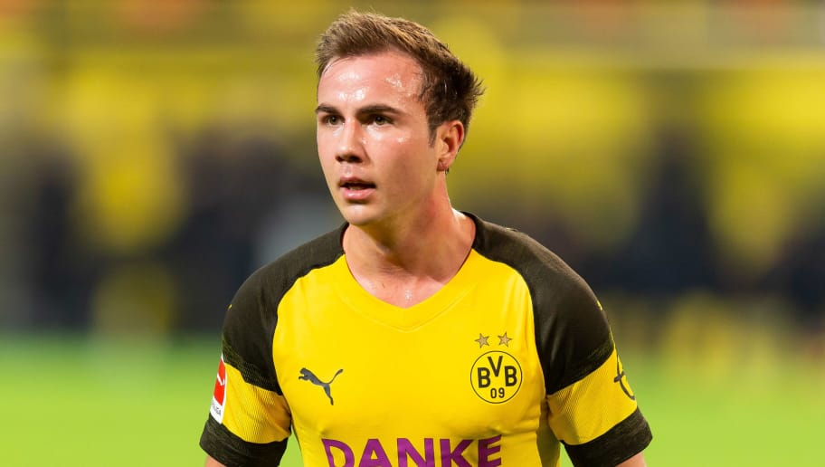 DORTMUND, GERMANY - DECEMBER 21: Mario Goetze of Borussia Dortmund looks on during the Bundesliga match between Borussia Dortmund and Borussia Moenchengladbach at Signal Iduna Park on December 21, 2018 in Dortmund, Germany. (Photo by TF-Images/TF-Images via Getty Images)