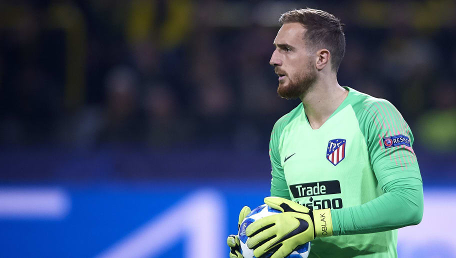 DORTMUND, GERMANY - OCTOBER 24:  Jan Oblak of Club Atletico de Madrid looks on during the Group A match of the UEFA Champions League between Borussia Dortmund and Club Atletico de Madrid at Signal Iduna Park on October 24, 2018 in Dortmund, Germany. (Photo by Quality Sport Images/Getty Images)
