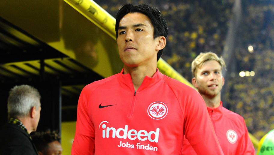 DORTMUND, GERMANY - SEPTEMBER 14: Makoto Hasebe of Eintracht Frankfurt looks on prior to the Bundesliga match between Borussia Dortmund and Eintracht Frankfurt on September 14, 2018 in Dortmund, Germany. (Photo by TF-Images/Getty Images)