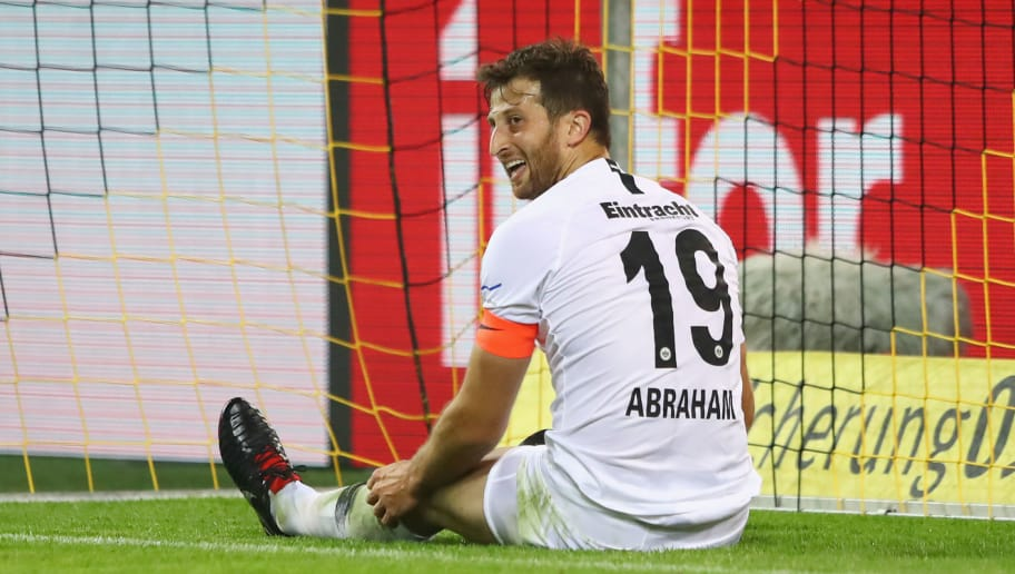DORTMUND, GERMANY - SEPTEMBER 14:  David Abraham of Eintracht Frankfurt looks dejected as Marius Wolf of Borussia Dortmund scores his team's second goal during the Bundesliga match between Borussia Dortmund and Eintracht Frankfurt at Signal Iduna Park on September 14, 2018 in Dortmund, Germany.  (Photo by Martin Rose/Bongarts/Getty Images)