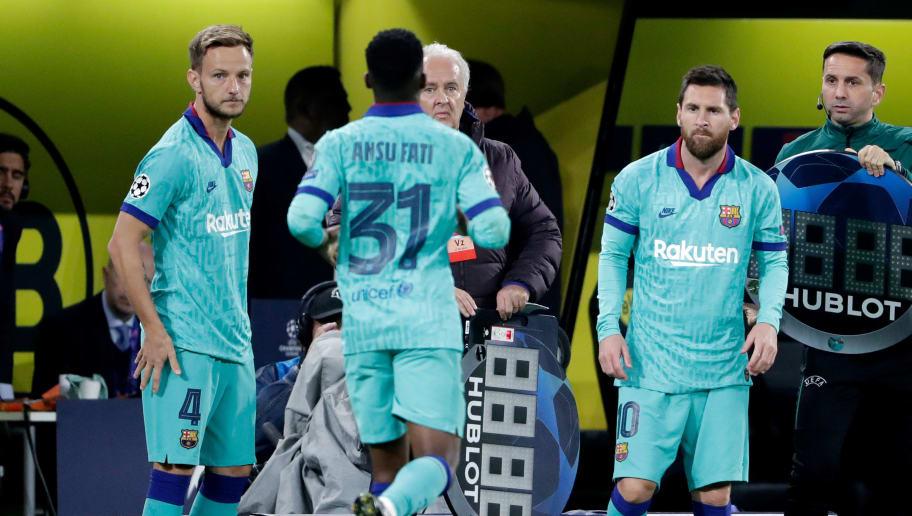 Ansu Fati,Ivan Rakitic,Lionel Messi