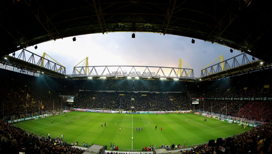 DORTMUND, GERMANY - APRIL 11:  A general overview during the Bundesliga match between Borussia Dortmund and FC Bayern Muenchen at Signal Iduna Park on April 11, 2012 in Dortmund, Germany.  (Photo by Friedemann Vogel/Bongarts/Getty Images)