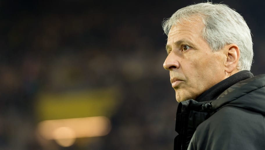 DORTMUND, GERMANY - NOVEMBER 10: head coach Lucien Favre of Borussia Dortmund looks on during the Bundesliga match between Borussia Dortmund and FC Bayern Muenchen at Signal Iduna Park on November 10, 2018 in Dortmund, Germany. (Photo by TF-Images/Getty Images)
