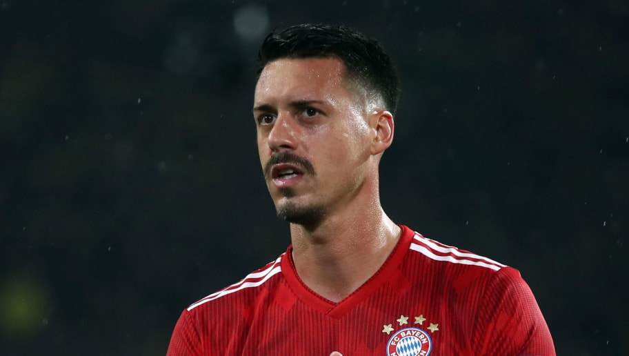 DORTMUND, GERMANY - NOVEMBER 10: Sandro Wagner of Muenchen reacts after the Bundesliga match between Borussia Dortmund and FC Bayern Muenchen at Signal Iduna Park on November 10, 2018 in Dortmund, Germany. (Photo by Alex Grimm/Bongarts/Getty Images)