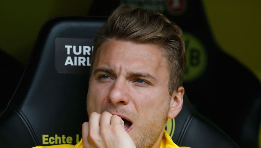 DORTMUND, GERMANY - MAY 09:  Ciro Immobile of Dortmund looks on prior to the Bundesliga match between Borussia Dortmund and Hertha BSC at Signal Iduna Park on May 9, 2015 in Dortmund, Germany.  (Photo by Boris Streubel/Getty Images)