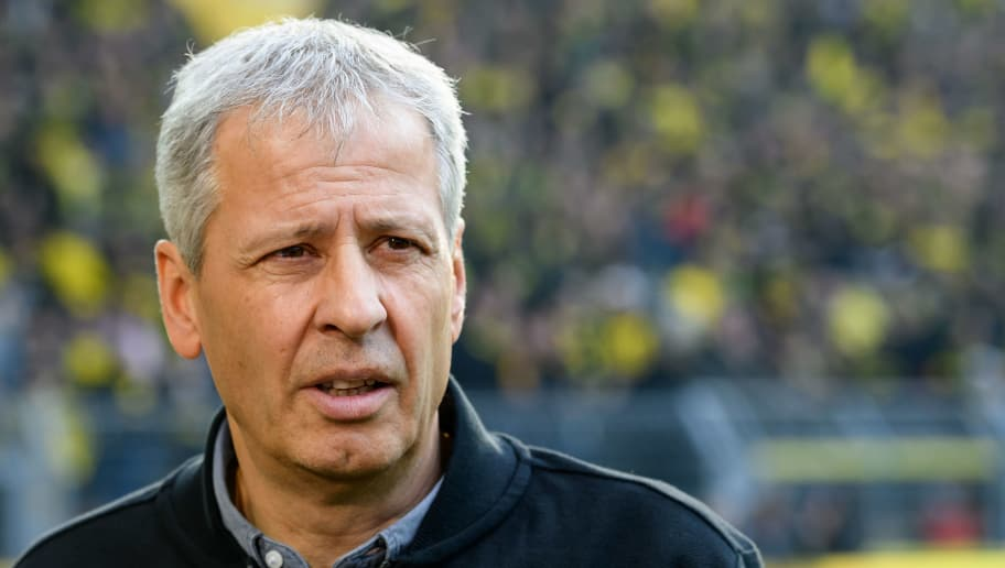 DORTMUND, GERMANY - OCTOBER 27: Head coach Lucien Favre of Borussia Dortmund looks on prior the Bundesliga match between Borussia Dortmund and Hertha BSC at Signal Iduna Park on October 27, 2018 in Dortmund, Germany. (Photo by TF-Images/Getty Images)