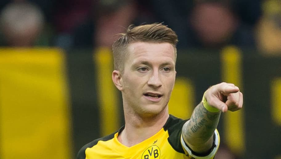 DORTMUND, GERMANY - OCTOBER 27: Marco Reus of Borussia Dortmund gestures during the Bundesliga match between Borussia Dortmund and Hertha BSC at Signal Iduna Park on October 27, 2018 in Dortmund, Germany. (Photo by TF-Images/Getty Images)
