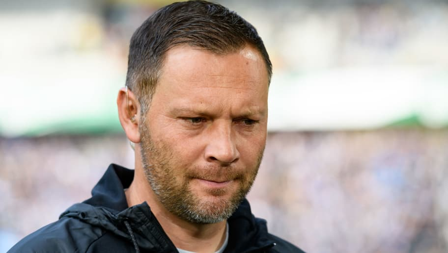 DORTMUND, GERMANY - OCTOBER 27: Head coach Pal Dardai of Hertha BSC looks on prior the Bundesliga match between Borussia Dortmund and Hertha BSC at Signal Iduna Park on October 27, 2018 in Dortmund, Germany. (Photo by TF-Images/Getty Images)