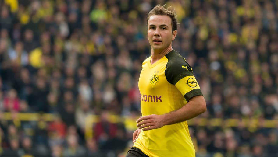 DORTMUND, GERMANY - OCTOBER 27: Mario Goetze of Borussia Dortmund looks on during the Bundesliga match between Borussia Dortmund and Hertha BSC at Signal Iduna Park on October 27, 2018 in Dortmund, Germany. (Photo by TF-Images/Getty Images)